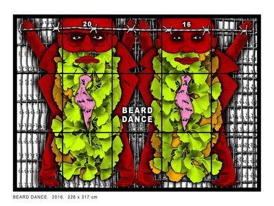 Gilbert and George, 'Beard Dance', 2016