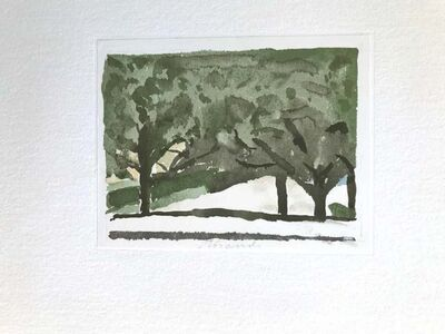 Giorgio Morandi, 'Green Trees ', 1973