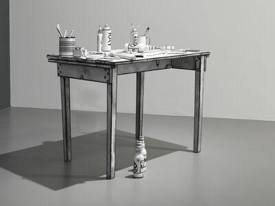 Mary Reid Kelley, 'Daedalus' Table', 2014