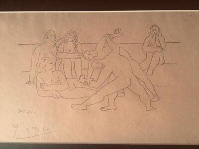 Pablo Picasso, 'The Wrestlers (Les Lutteurs)', 1921-published 1928