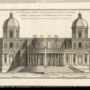 Gian Lorenzo Bernini, 'Facciata della tribuna della Basilica di Sta. Maria Maggiore, secondo il dissegno del Cavre. Bernini non posto in opera', 1702-1721