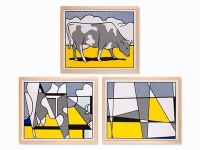 Roy Lichtenstein, 'Cow Triptych: Cow Going Abstract (set of 3)', 1982