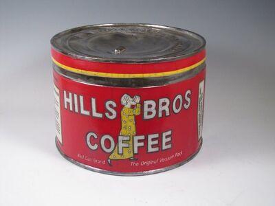 "Karen Shapiro, '""Hills Bros. Coffee Tin""', 2017"