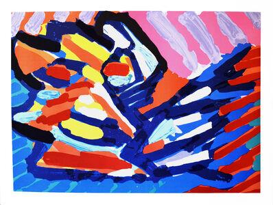 Karel Appel, 'Series of 10-Moving in Blue', 1978
