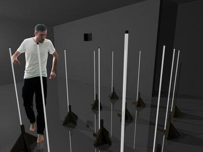 Fernando Velázquez, '#L1 after Dan Flavin', 2014