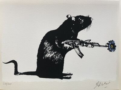Blek le Rat, 'The Warrior', 2018