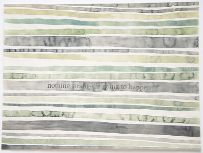 Julia Kuhl, 'Domestic Textiles Series, Nothing Strange Is Going To Happen', 2018