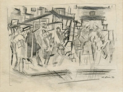 John Marin (1870-1953), 'Figures Downtown, New York City', 1932