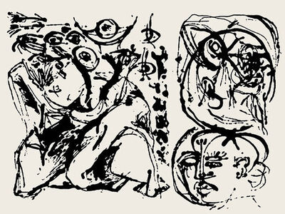 Jackson Pollock, 'Untitled (After CR328)  CR#1096 (P32', 1951