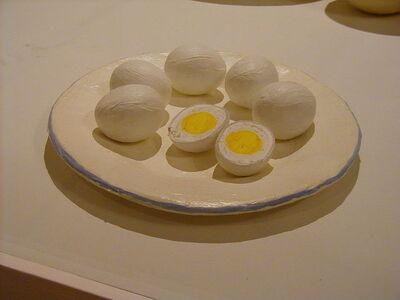 Eduardo Costa, 'Pintura de ocho huevos duros en un plato', 2017