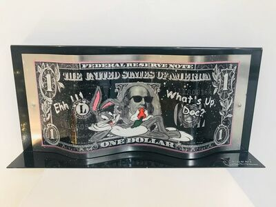 "Alain Mimouni, 'Dollar Bugs Bunny ""What's Up Doc ?""  on metal base', 2019"