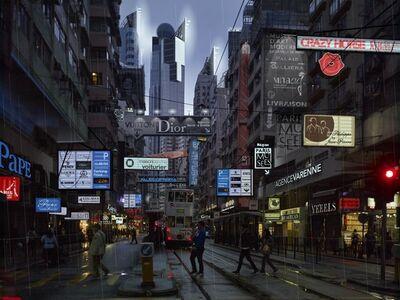 Alain Bublex, 'Plan Voisin de Paris - Contre-allées HK_826'