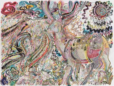 Wu Jian'an 邬建安, 'Divine Deer Approaches the Fierce Storm and Scorching Sun 走向暴雨与骄阳的神鹿', 2019