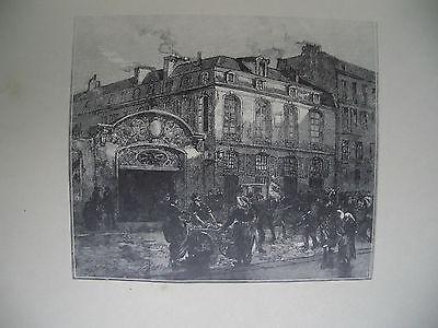 Auguste Lepère, 'La maison où mourut Béranger', 1883