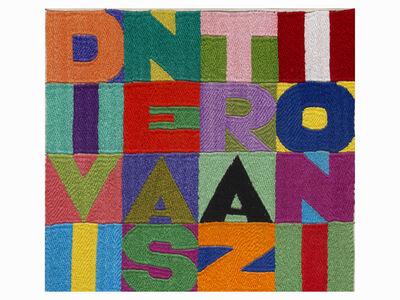 Alighiero Boetti, 'Divine astrazioni', 90