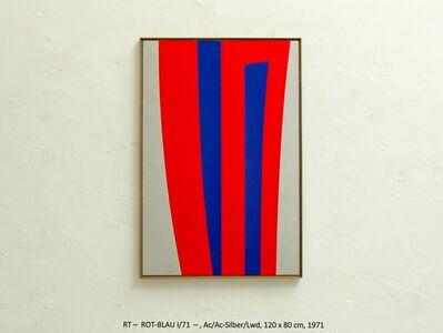 Rainer Tappeser, 'ROT-BLAU I/71', 1971
