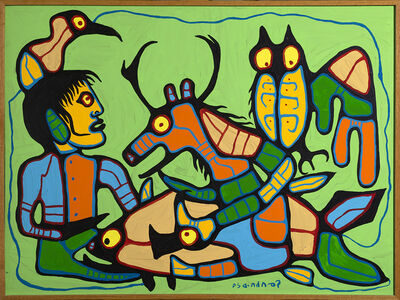 Norval Morrisseau, 'Untitled (Shaman Speaks To All Creatures)', ca. 1989