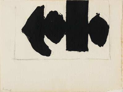 Robert Motherwell, 'Study for Elegy to the Spanish Republic No. 110E'
