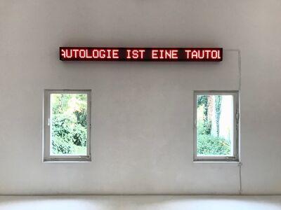 Timm Ulrichs, 'EINE TAUTOLOGIE IST EINE TAUTOLOGIE IST EINE ...', 1969