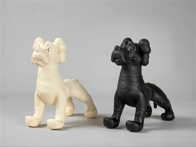 KAWS, 'Zooth Dogs (White & Black)', 2007