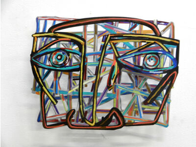 David Gerstein, 'Graffiti Face 1', 2012
