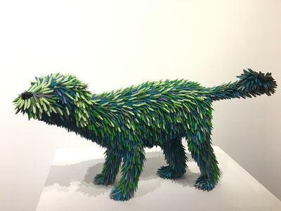 Federico Uribe, 'Blue Pencil Dog', 2019