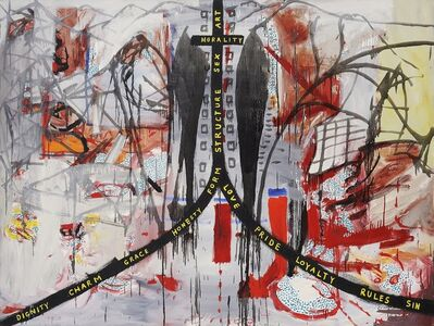 Gareth Sansom, 'My cross to bear', 1985