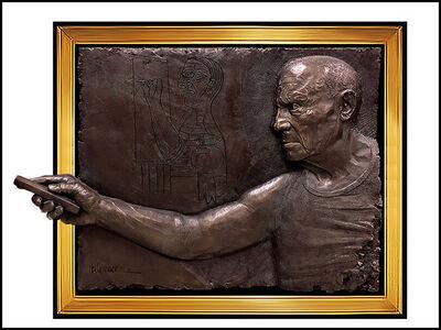 Bill Mack, 'Bill Mack Pablo Picasso Bonded Bronze Relief Sculpture Signed Large Framed Art', 1984