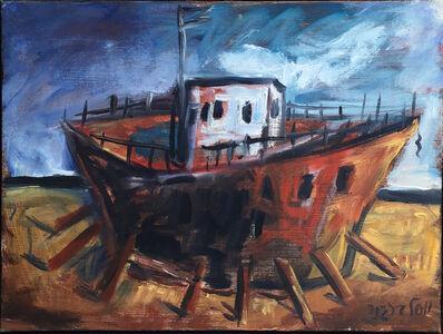 Yosl Bergner, 'Touring boats in Jaffa', 2004