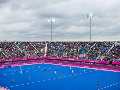 Simon Roberts, 'Women's Hockey, Riverbank Arena, London, 29 July 2012', 2015