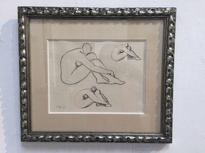 Francisco Zúñiga, 'Three Seated Nudes', 1959