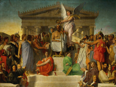Jean-Auguste-Dominique Ingres, 'Homere deifie (Homer's Apotheosis)', 1827