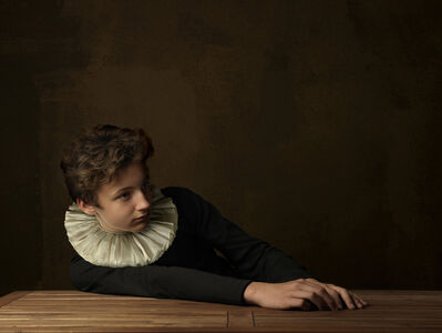 Marie Cecile Thijs, 'Boy with White Collar at Table', 2009
