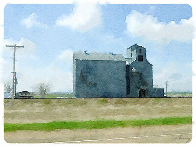 Anne M Bray, 'Grain Elevator, ND', 2014
