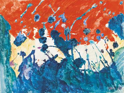 Max Weiler, 'Himmel-Rot', 1988