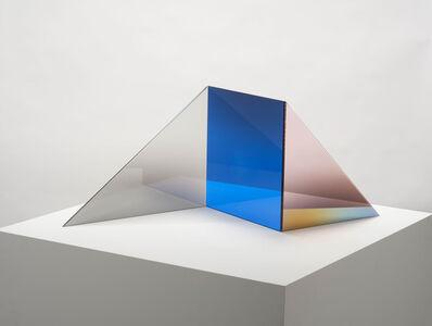 Larry Bell, 'TRIOLITH-C (Lapis / Sea Salt / Blush) C', 2020