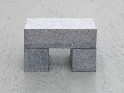 Carl Andre, '1 BLOCK ON 2 CUBES', 2001