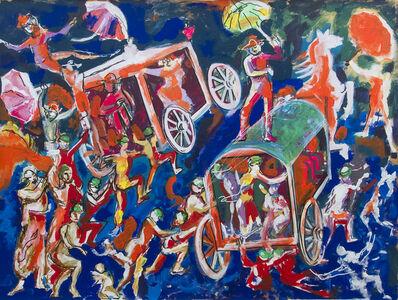 Dario Fo, 'Moralità siciliana mediavale. La gara fra i signori coi cappelli e i contadini coi berretti. Arbitro: Il padre eterno.', 2013