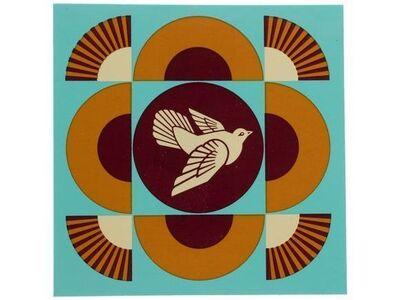 Shepard Fairey, 'Dove Geometric Blue / White (Set of 2 Prints)', 2018