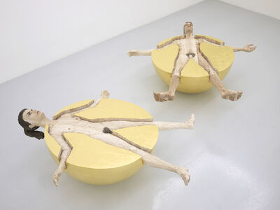 Stephan Balkenhol, 'Human ball woman / Human ball man', 2012