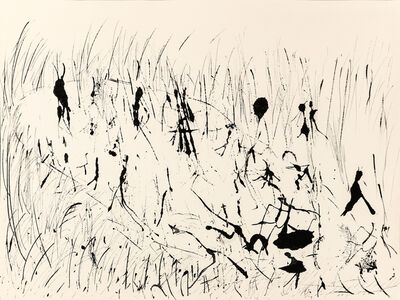 "Henri Michaux, 'Untitled (""People on paysage"" serie) , hm 7825, Collection Luigi Moretti, Roma', executed between 1950-52"