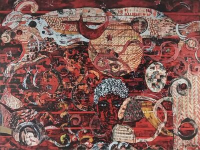 "Sanatan Saha, 'Starry Night, Acrylic on Canvas, by Contemporary Indian Artist ""In Stock""', 2010-2020"