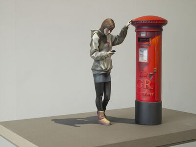 Dae-hun Kwon, 'Chalna - The girl mailing by the postbox C2', 2013