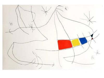 Joan Miró, 'Joan Miro - L'Issue Dérobée - Original Aquatint ', 1974