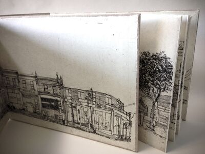 Soula Mantalvanos, 'Gertrude Streetscape North Side Artist's Book', 2014