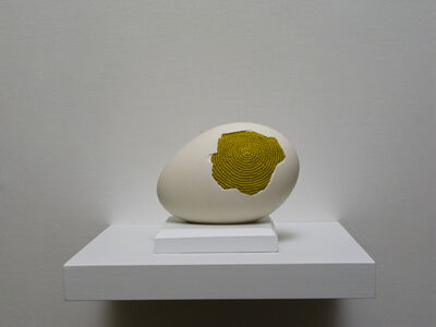 Esther Traugot, 'Patched egg (goose egg 1)', 2017