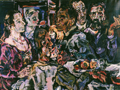 Oskar Kokoschka, 'The Friends', 1917-1918