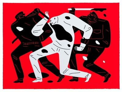 Cleon Peterson, 'The Disappeared (Red)', 2019
