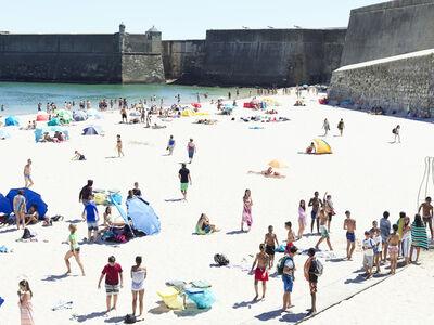 Massimo Vitali, 'Praia da Torre Fortress Europe, Portugal ', 2016