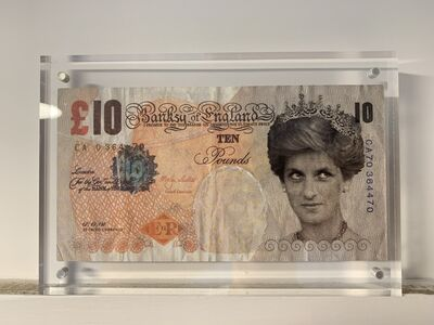 Banksy, 'GENUINE, BANKSY DI-FACED TENNER', 2004